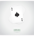 ace spades vector image vector image