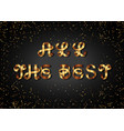 all the best gold sign on black background vector image vector image