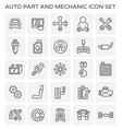 auto mechanic icon vector image vector image