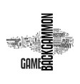 backgammon history text word cloud concept vector image vector image