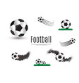 ball lies on the grass a football match vector image vector image