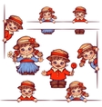 banners with girl and boy at Brazilian vector image vector image