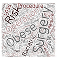 Bariatric Surgery The Quick Fix to Obesity text vector image vector image
