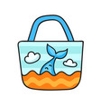 beach bag with a mermaid tail s vector image
