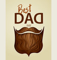 best dad ever 3d paper cut hipster beard vector image vector image