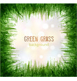 big abstract green grunge splash with place for vector image vector image