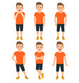 boys different emotions vector image