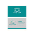 business card template design dental logo design vector image vector image