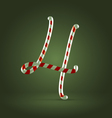 Candy cane abc 4 vector image