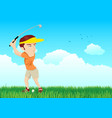 cartoon of a golfer vector image