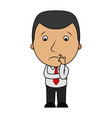 cartoon sad businessman vector image vector image