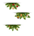 christmas banners set with christmas toys and vector image vector image