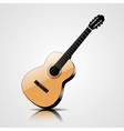 classic guitar isolated on white background vector image vector image