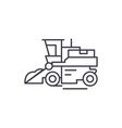 combine harvester line icon concept combine vector image vector image