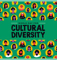 cultural diversity card diverse ethnic people vector image vector image