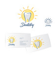 dentistry logo dentist business card vector image vector image