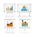 Diagrams and Graphs Whiteboards Set vector image vector image