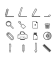 document icons set business information vector image