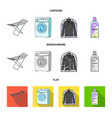 dryer washing machine clean clothes bleach dry vector image vector image