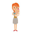 family mother carrying her baby cute image vector image vector image