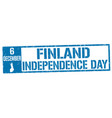 finland independence day grunge rubber stamp vector image