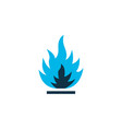 flammable icon colored symbol premium quality vector image