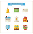 Flat Back to School and Science Objects Set vector image vector image