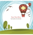 Frame with hot air balloon vector image vector image