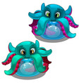 funny octopus from aquarium sea creature vector image vector image