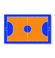 futsal court or field top view vector image vector image