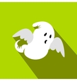 Ghost flat icon with shadow vector image
