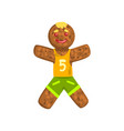 gingerbread man in costume of soccer player vector image vector image