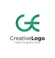 green circular initial letter g and e business vector image vector image