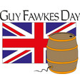 happy guy fawkes day with fireworks vector image vector image