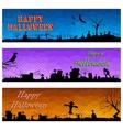 Happy Halloween Header vector image vector image