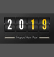 happy new year 2019 airport time table with vector image