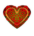 heart icon a symbol of love valentine s day with vector image vector image