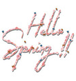 hello spring text letter vector image vector image