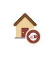 home wifi sign wi-fi symbol wifi zone vector image
