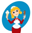 ice cream seller vector image