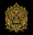 indonesian bali mask art barong vector image