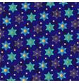 jewish star snowflake pattern vector image vector image