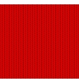 knitted seamless pattern red vector image vector image