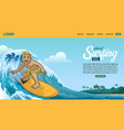 landing page surfing page vector image vector image