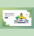 landing page template startup business modern vector image