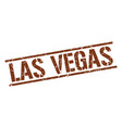 Las vegas brown square stamp vector image