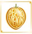 logo for pepino melon vector image vector image