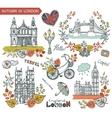 London landmarkAutumn leaves wteath group vector image vector image