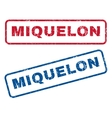 Miquelon Rubber Stamps vector image vector image
