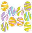 mod swirl easter eggs vector image vector image